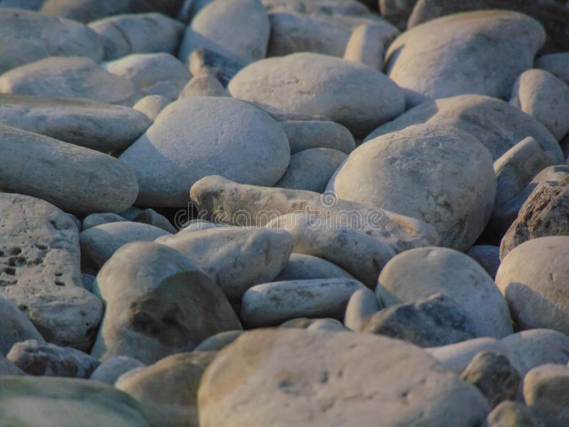 Pebble Beach blanco fotografía de archivo