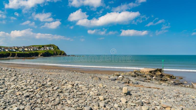 Pebble beach in Borth, Wales, UK. Pebble beach in Borth near Aberystwyth, Ceredigion, Dyfed, Wales, UK royalty free stock image