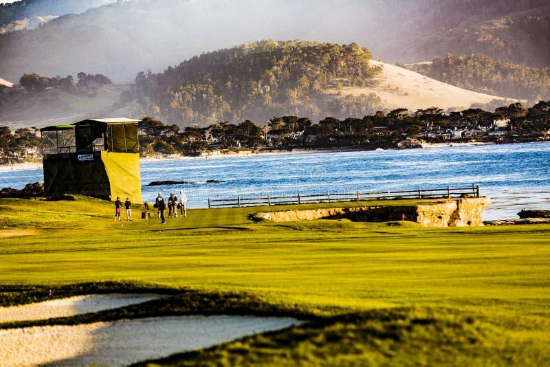 Pebble Beach Golf royalty free stock photography