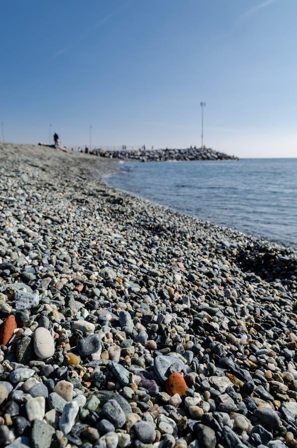 The pebble beach royalty free stock image