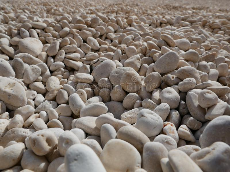 White Pebble beach, Lefkada island, Greece - Background stock photos