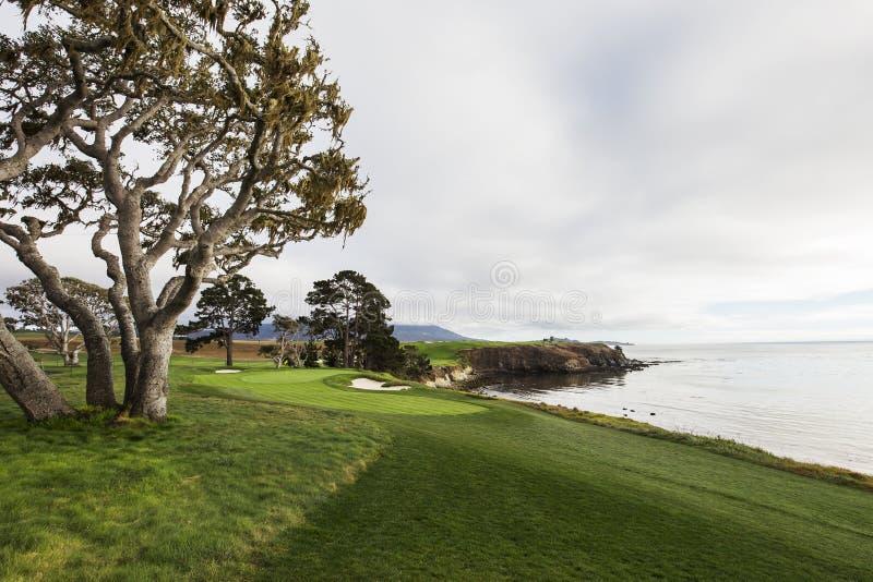 Pebble Beach golf course, Monterey, California, USA royalty free stock image
