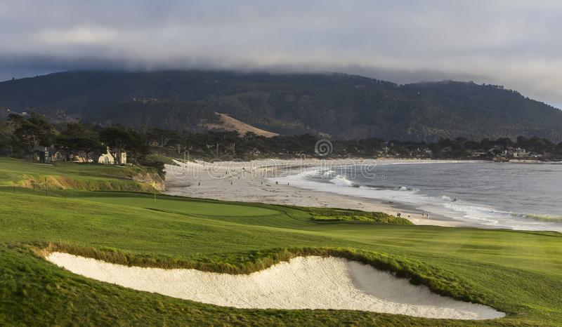 Pebble Beach golf course, Monterey, California, USA royalty free stock image