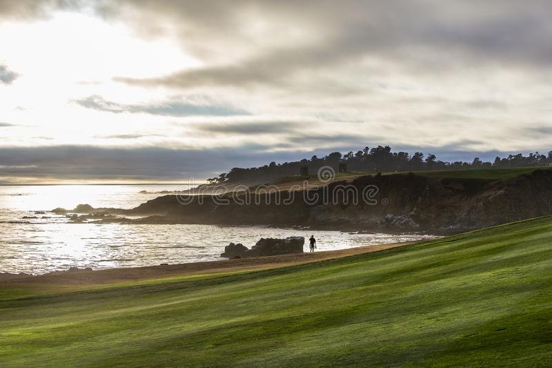 Pebble Beach golf course, Monterey, California, USA royalty free stock images