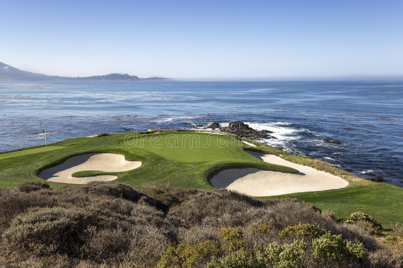 Pebble Beach golf course, Monterey, California, USA royalty free stock photos