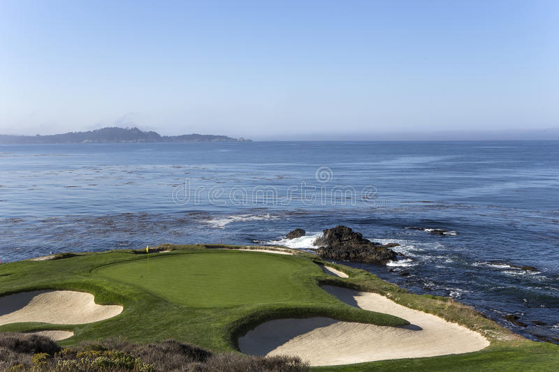 Pebble Beach golf course, Monterey, California, USA stock image