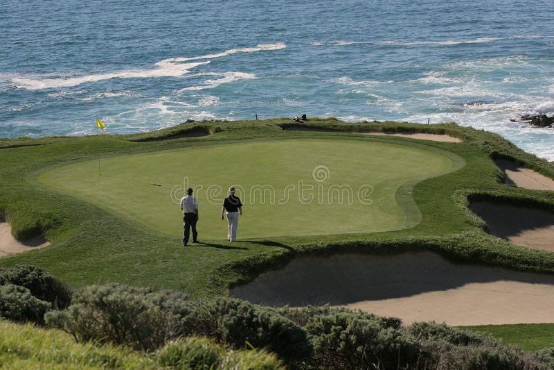 Pebble beach golf links, calif royalty free stock photo