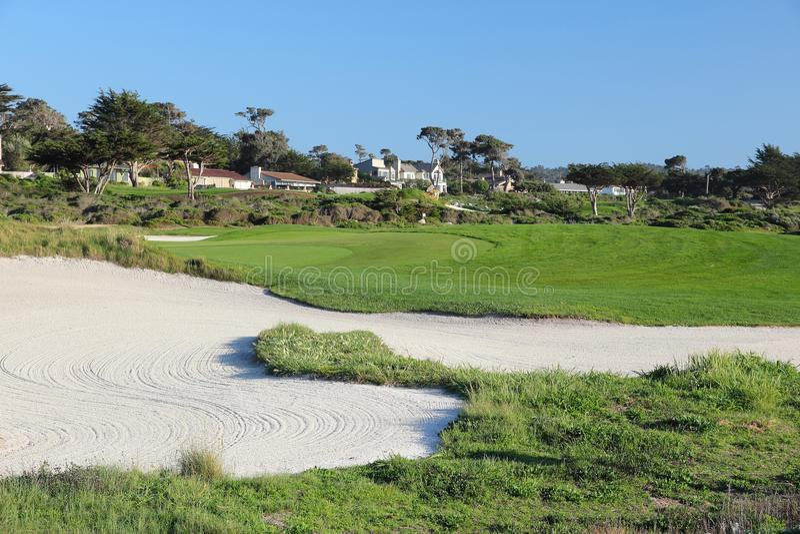 Pebble Beach Golf stock image