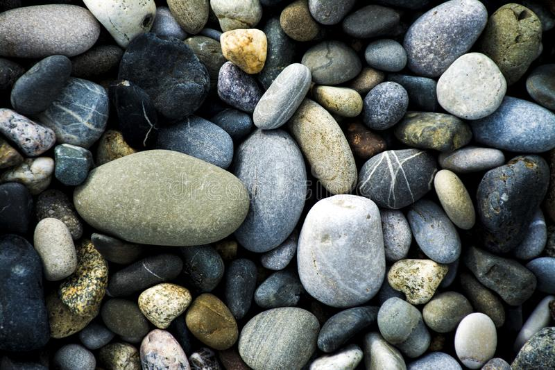 Pebble beach rocks royalty free stock photography