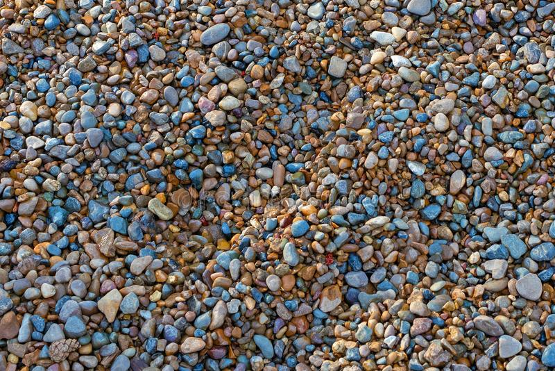 Pebble beach texture. High resolution photo. colorful small pebble, stone backgrounds. texture of beach with coarse sand stock photos
