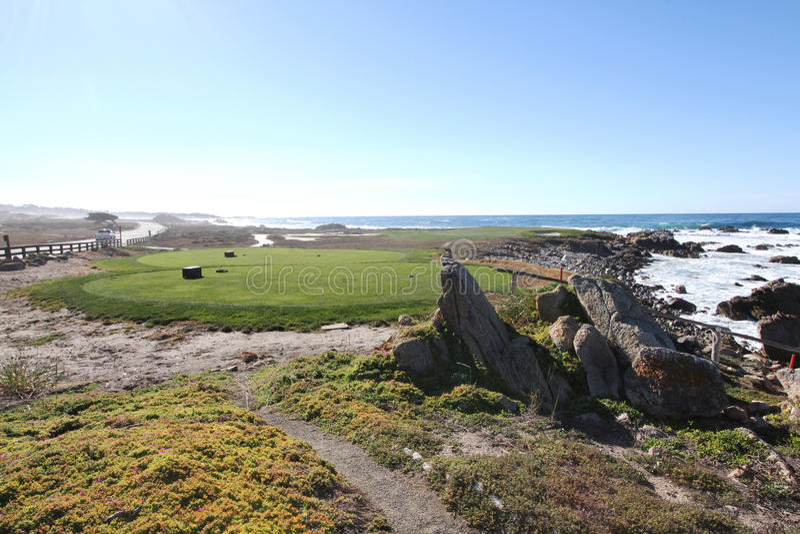 Pebble- Beachgolfplatz stockfotografie