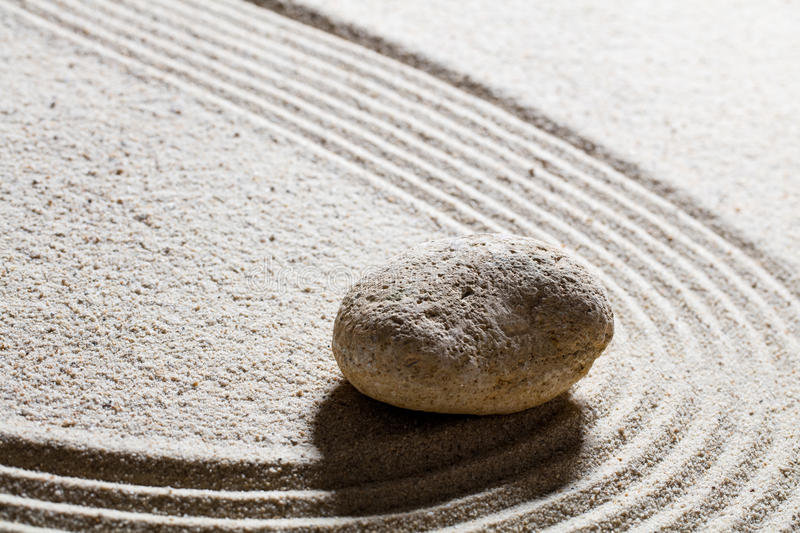 Pebble for concept of suppleness or flexibility with care royalty free stock images