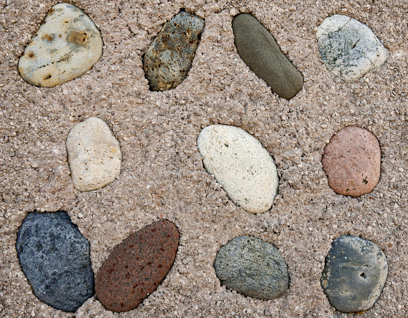 Download Pebble dashed wall stock image. Image of inset, colours - 19130531