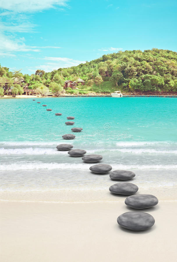 Download Pebble Road To Beach Royalty Free Stock Photos - Image: 17406268