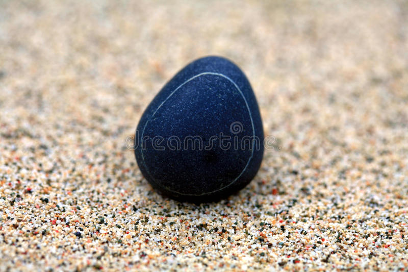 Download Pebble in sand stock image. Image of alone, pebble, grains - 26550951