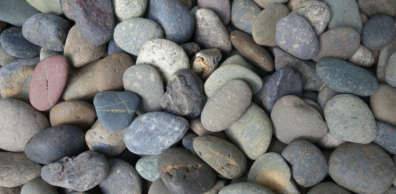 Pebble stone background stock images