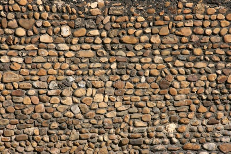 Pebble wall royalty free stock photos