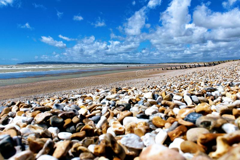 Pebbled Beach royalty free stock images