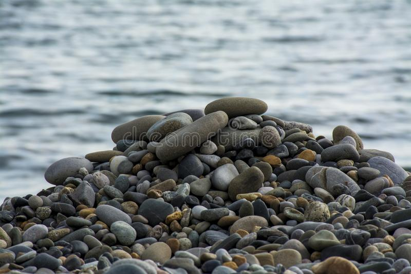 The pebbles royalty free stock images
