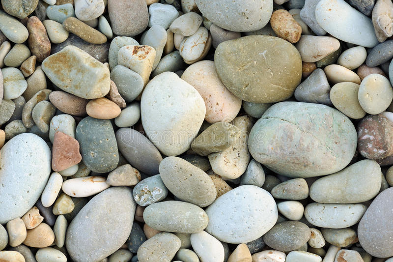 Pebbles on a beach stock photo