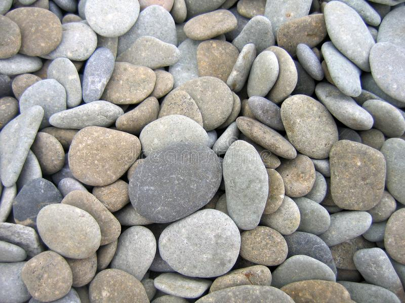Pebbles on the beach stock image