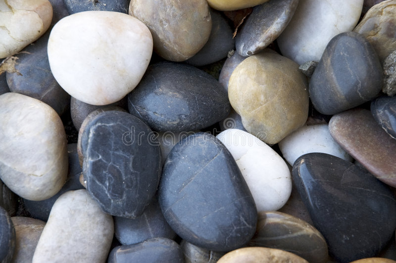 Pebbles beach stock photo