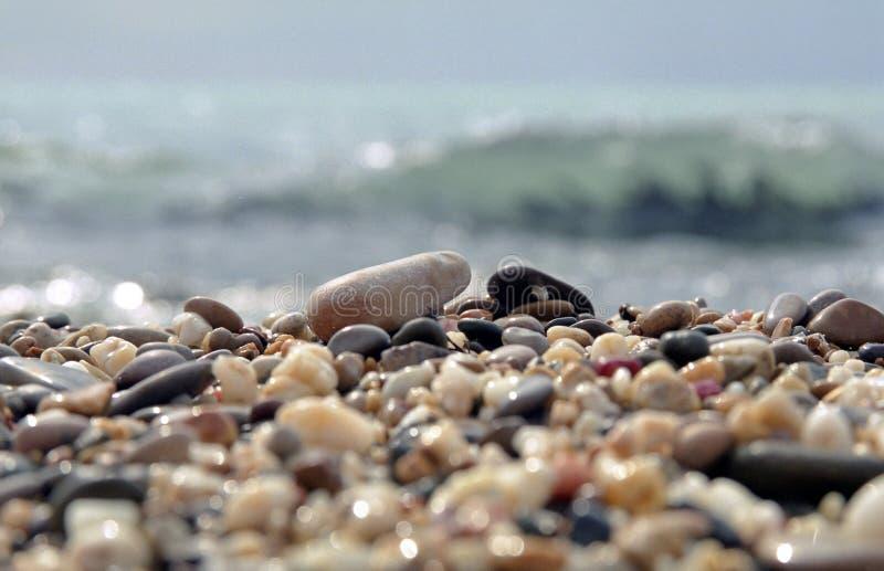 Pebbles beach royalty free stock image