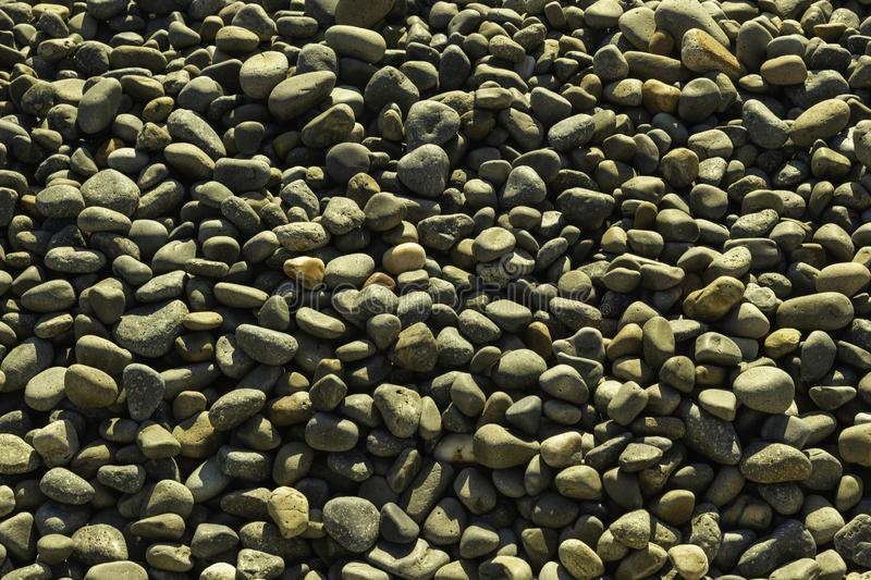 Pebbles on a beach stock image