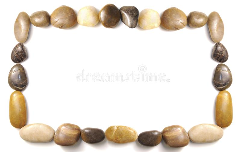 Pebbles border royalty free stock images