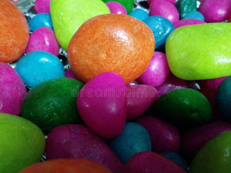 Pebbles colorfull royalty free stock photos