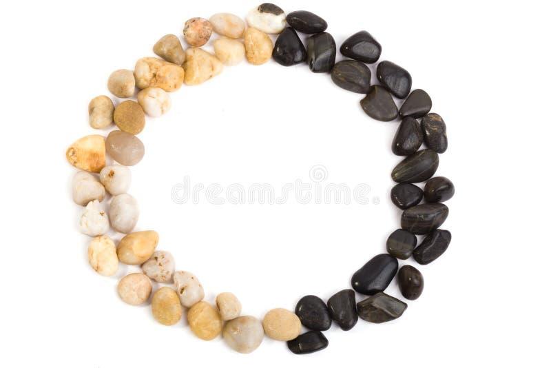 Pebbles frame stock photos