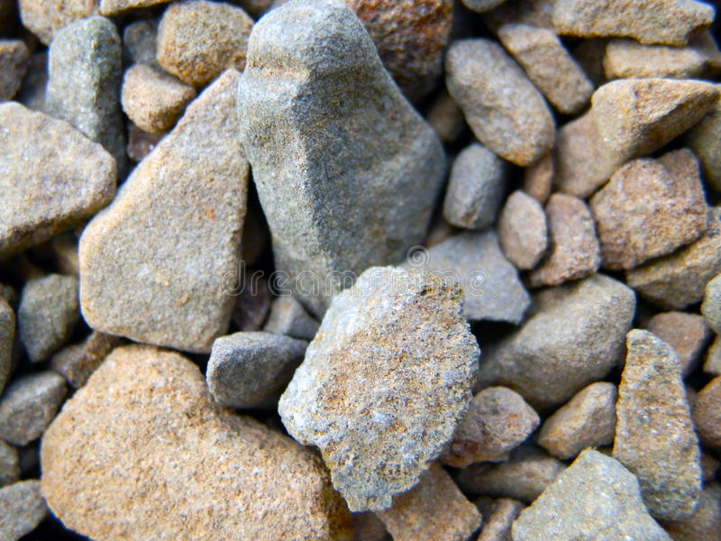 Pebbles on the ground royalty free stock photos