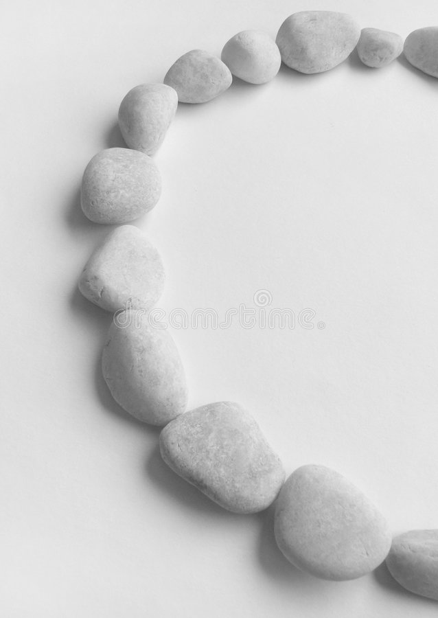 Pebbles Half Ring Frame Royalty Free Stock Image