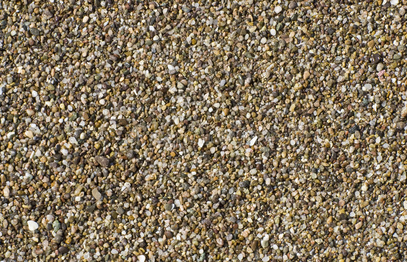 Pebbles on a Pacific Ocean shore stock photography