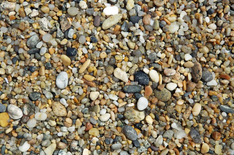 Pebbles by the Shore. stock photography