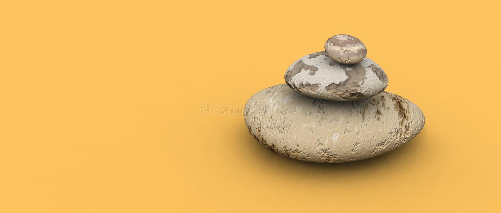 Pebbles stack