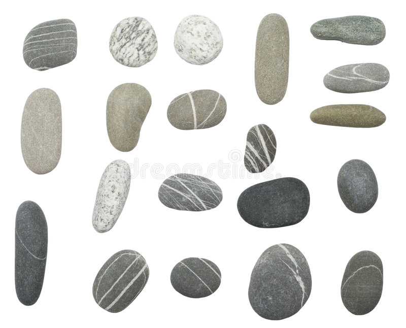 Pebbles on white royalty free stock photography