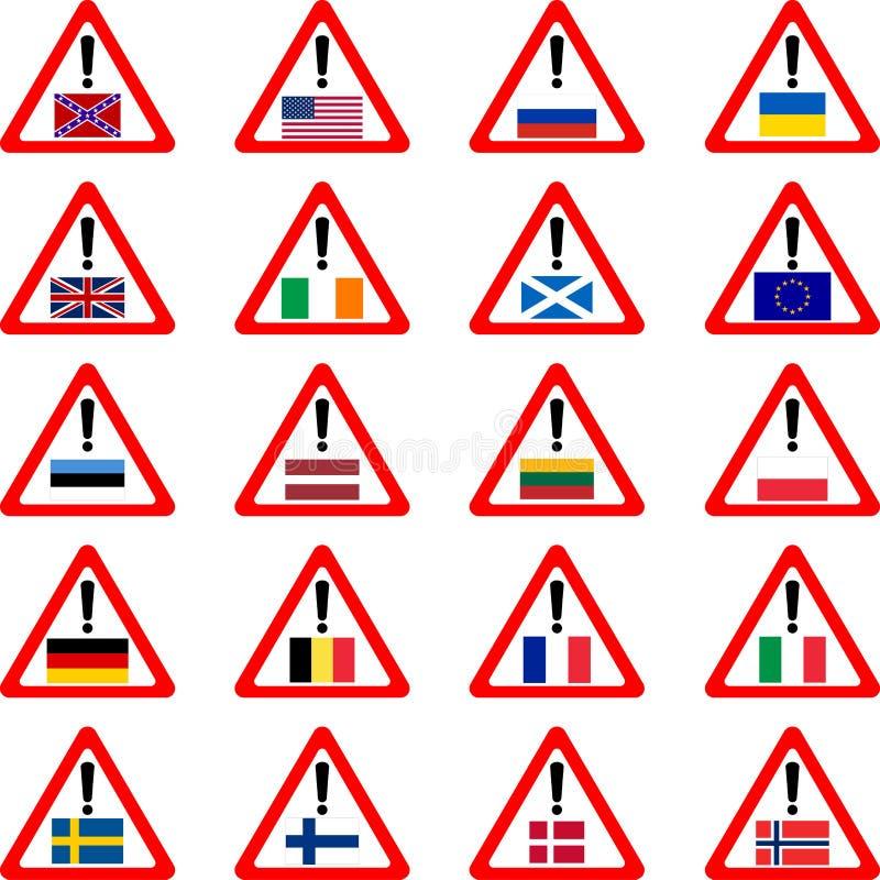 Pecados de advertência para viajantes ilustração do vetor