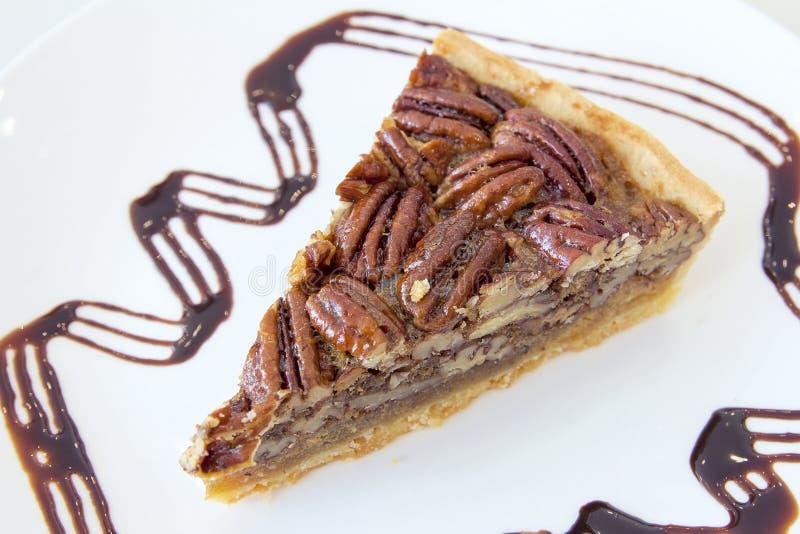 Pecan Pie Slice Closeup stock images
