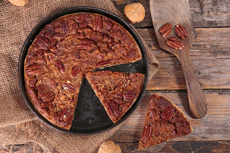 Pecan pie. Traditional thanksgiving dessert stock photo