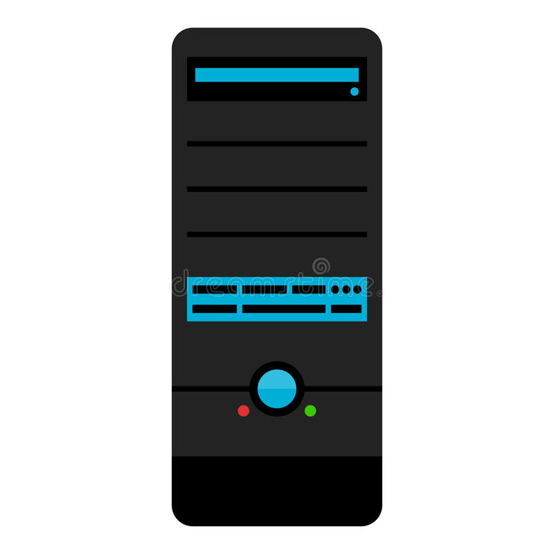 PECET Góruje skrzynki Desktop Płaską ikonę na bielu royalty ilustracja