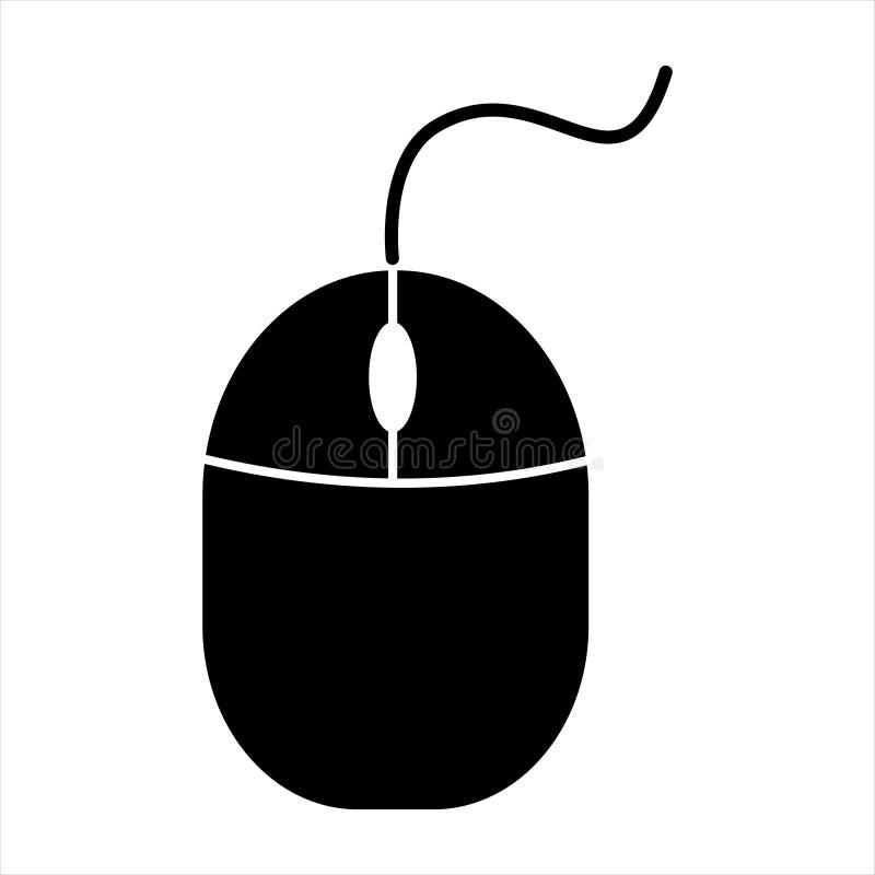 PECET myszy ikona Komputerowa myszy ikona, element biznesowa ikona dla mobilnego pojęcia i sieci apps, royalty ilustracja
