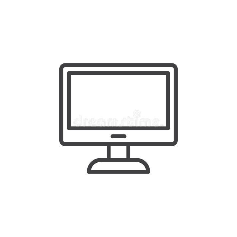 PECETA monitoru linii ikona royalty ilustracja