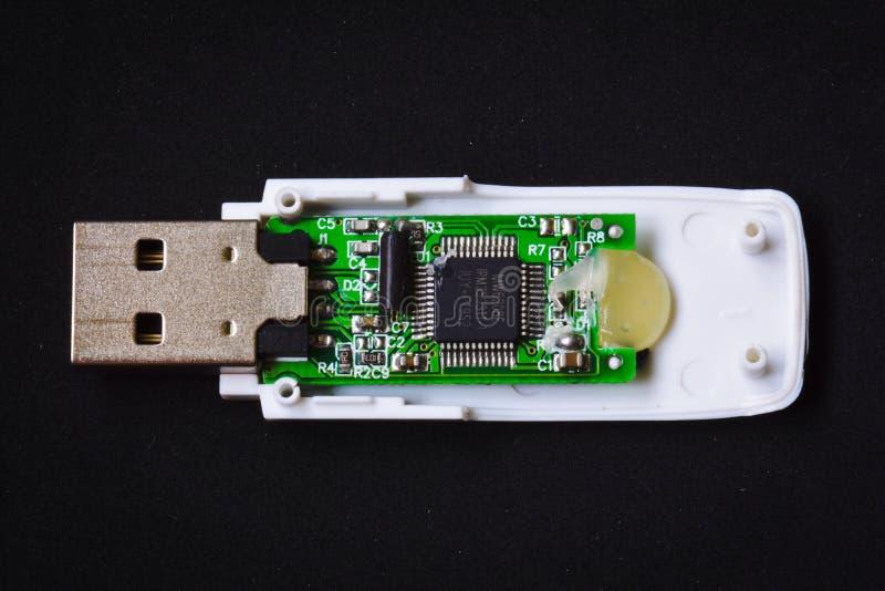 PECETA USB błysku przejażdżka inside zdjęcia stock