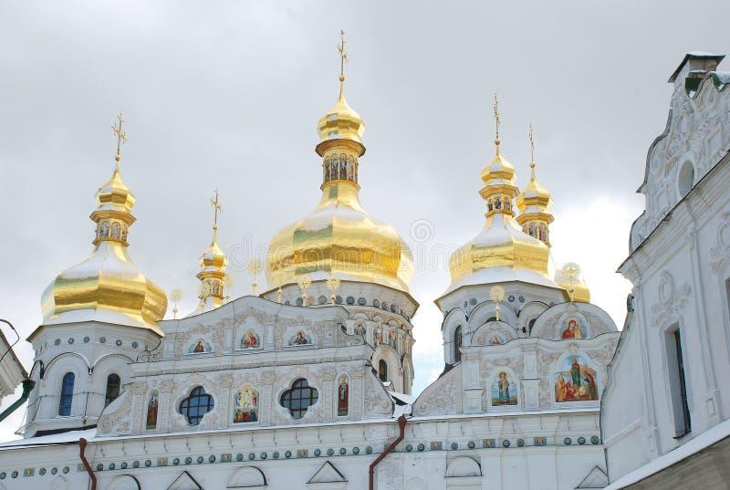 pechersk de lavra de Kiev Église orthodoxe images libres de droits
