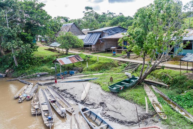 Pechinese di pechinese delle canoe di riparo immagine stock libera da diritti