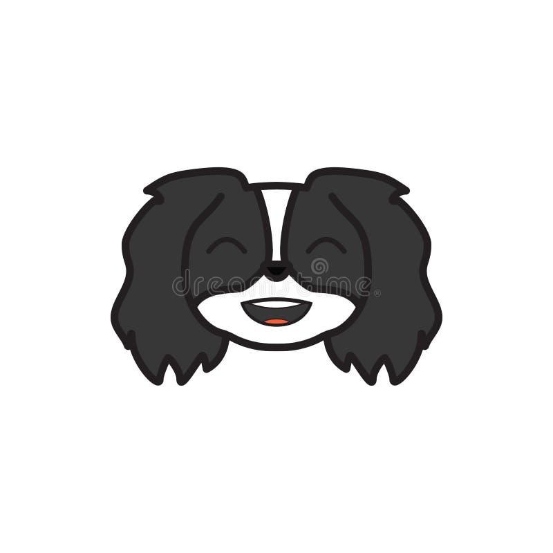 Pechinese, emoji, icona multicolore felice I segni e l'icona di simboli possono essere usati per il web, logo, app mobile, UI UX illustrazione vettoriale