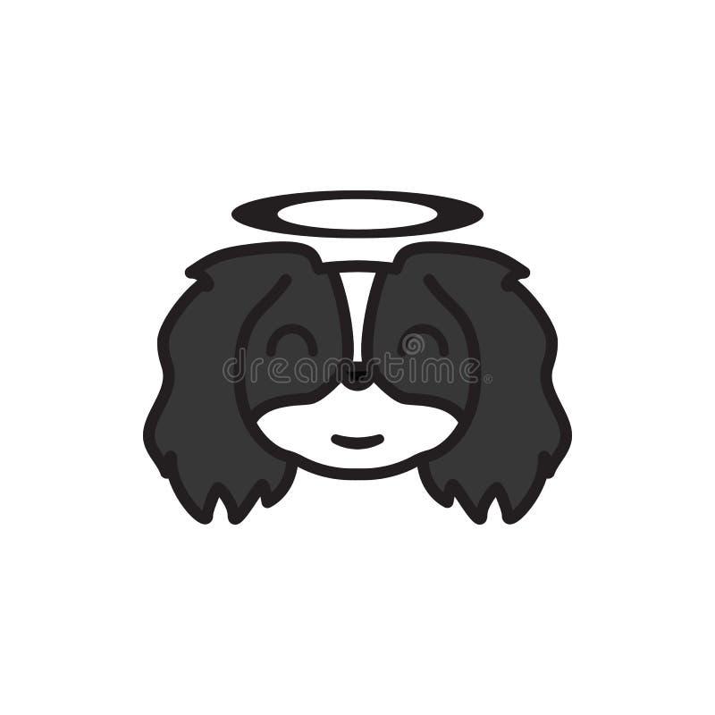 Pechinese, emoji, icona multicolore innocente I segni e l'icona di simboli possono essere usati per il web, logo, app mobile, UI  royalty illustrazione gratis