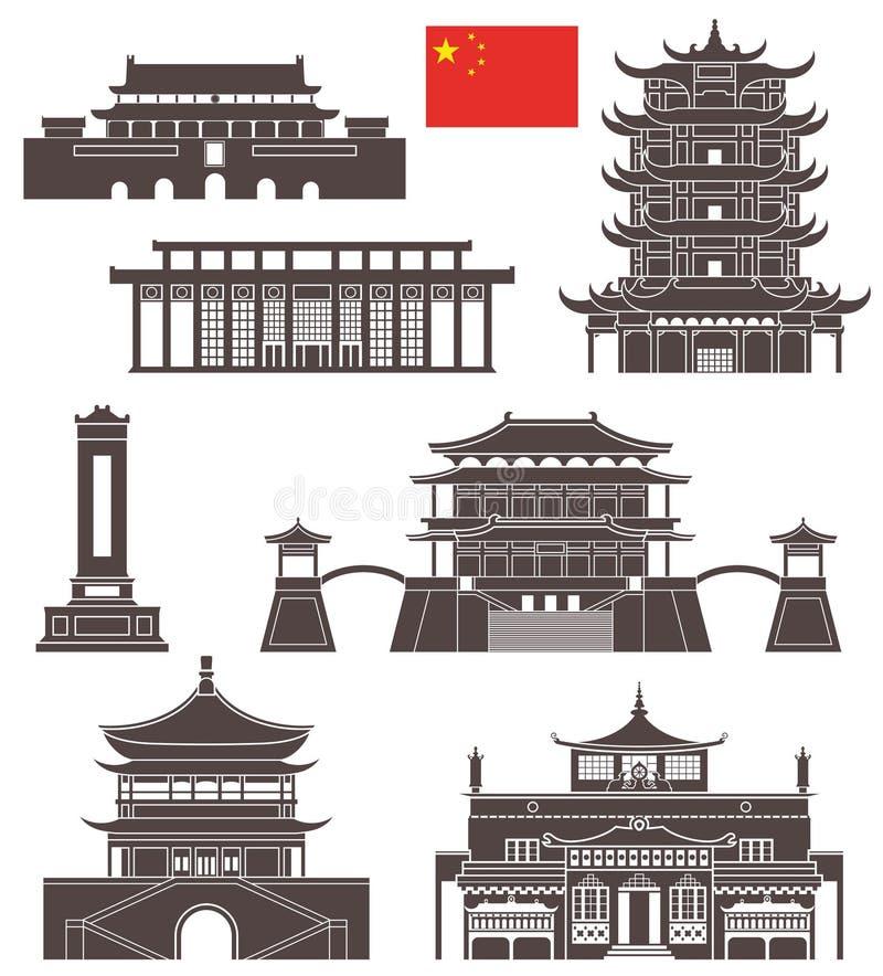 Pechino insieme illustrazione vettoriale