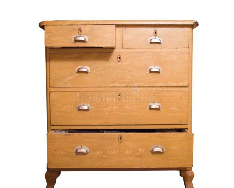 Pecho de cajones de madera retro imagen de archivo libre de regalías